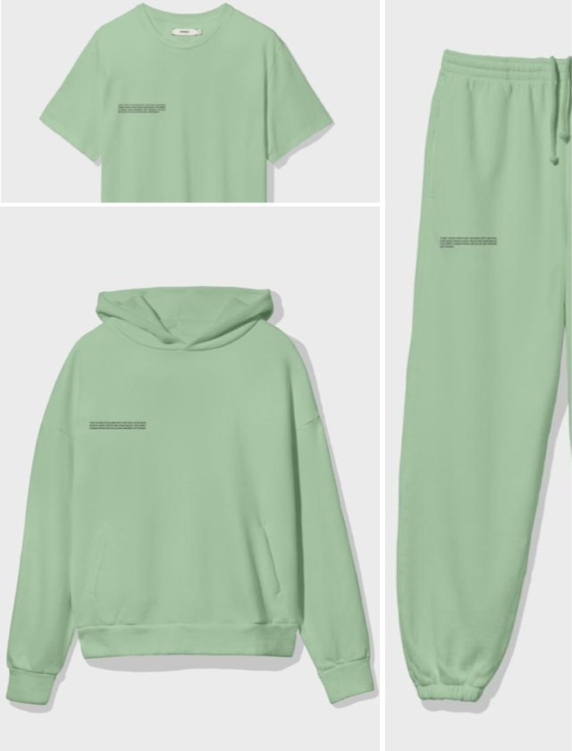 The Pangaia Bio-based recycled fibers. Green hoody