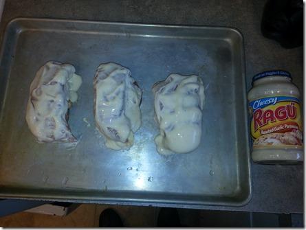 Baked Garlic Alfredo Chicken Breasts
