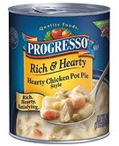 Progresso Rich & Hearty Hearty Chicken Pot Pie Style
