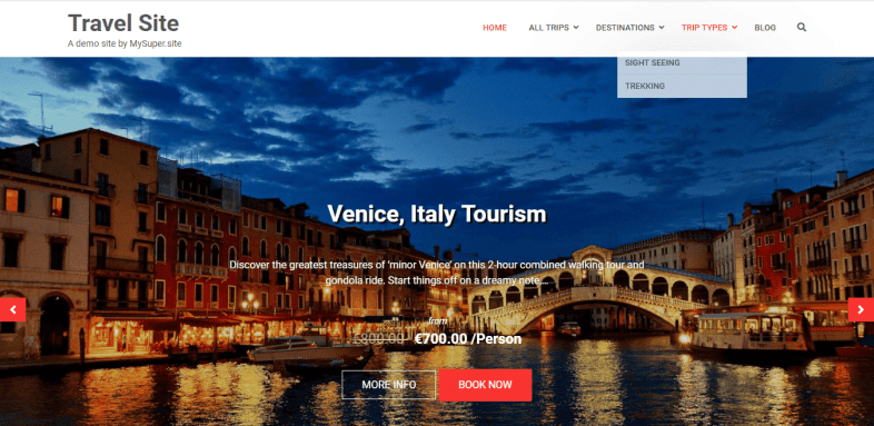 сайт за туристическа агенция