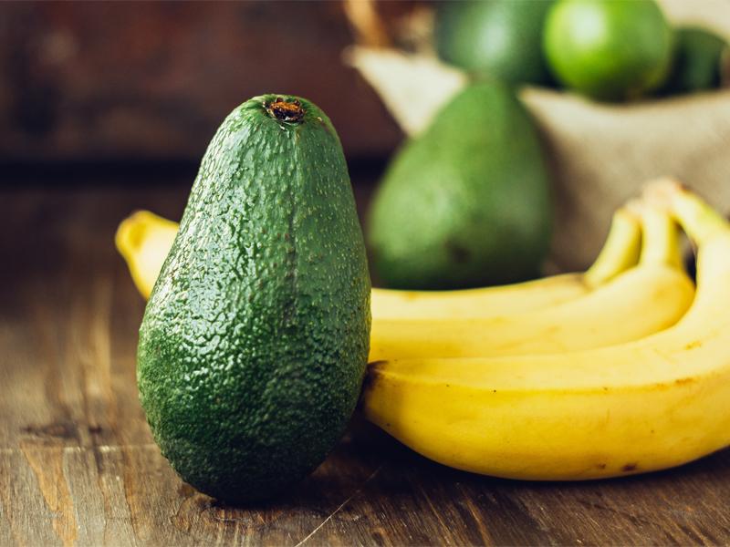 avocados over bananas