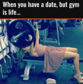 14 Signs that She's Not Girlfriend Material, gym, date, gf material