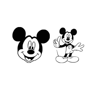 Download Free Mickey Mouse Svg Files, Dxf, Eps and Png Cutting ...