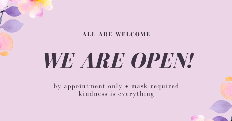 We're Excited to Announce - We Are Open!