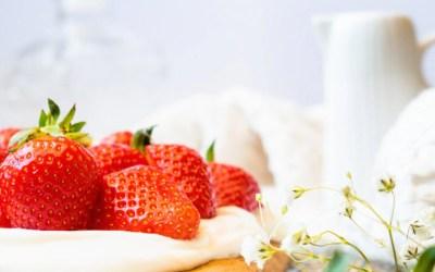 Gâteau aux fraises léger