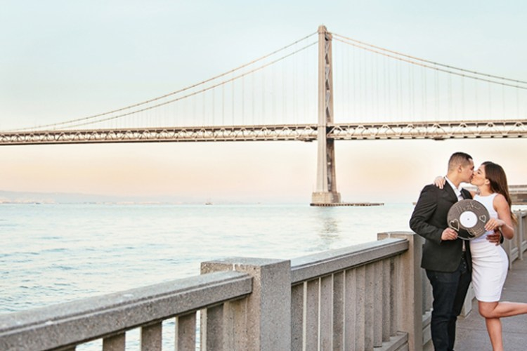 Beautiful and Creative Engagement Photos and Save the Date in San Francisco