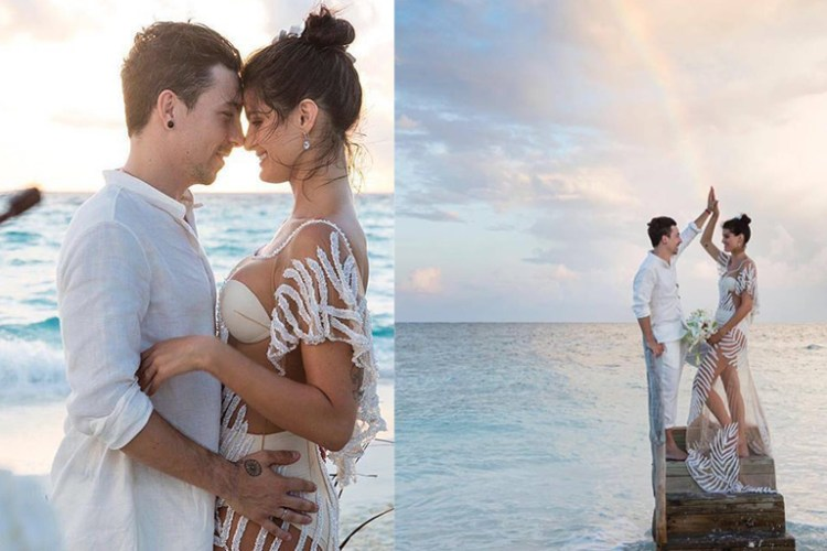 Victoria's Secret top model gets married in the Maldives and we show you all