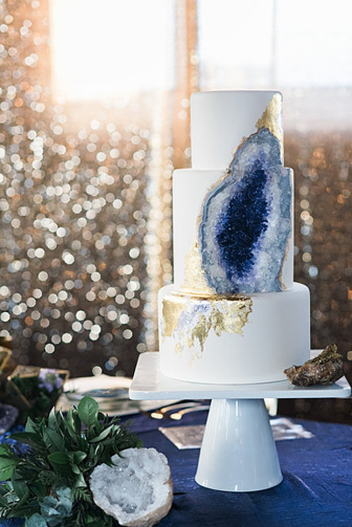 Gemstone wedding cake | See more: http://mysweetengagement.com/15-extraordinary-wedding-cakes-for-all-wedding-styles