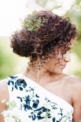 natural curly hair bridal
