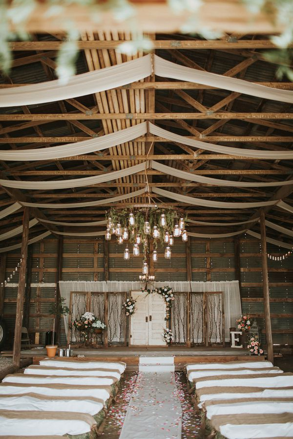To Compliment Your Rustic Wedding Ceremony Use Vintage Door As A Backdrop
