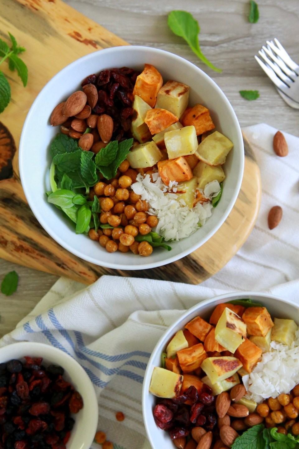 Nutritious sweet potato protein bowl
