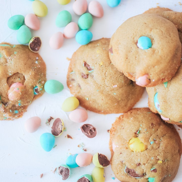Soft, sweet mini egg cookies, a perfect cookie to bake with the kids.