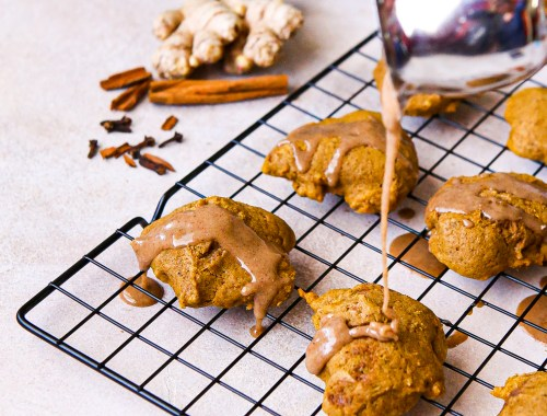 Old fashioned pumpkin cakies | cookies that are like cake | pumpkin cookies that can be made gluten-free | lower sugar pumpkin cakies | pumpkin cookies | pumpkin spice | pumpkin spice glaze | pumpkin recipes | pumpkin season | Holiday baking | Halloween treat | thanksgiving treat | dessert | pumpkin dessert