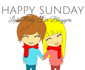 #HappySunday Linky Party Button