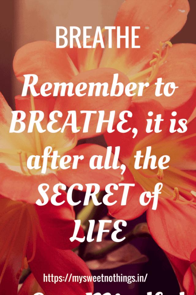 B For Breathe On Mindfulness
