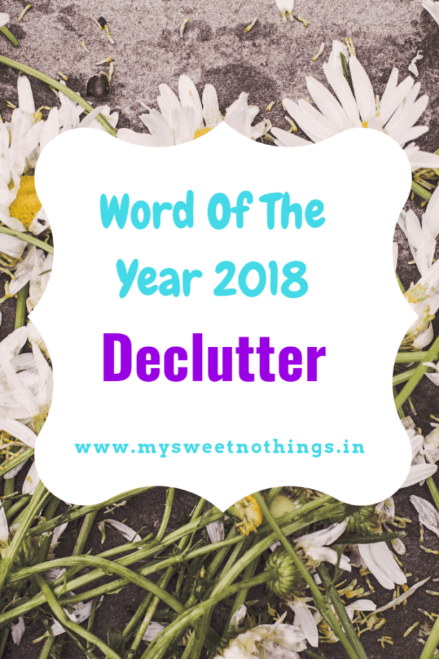 Word Of The Year 2019 - Declutter