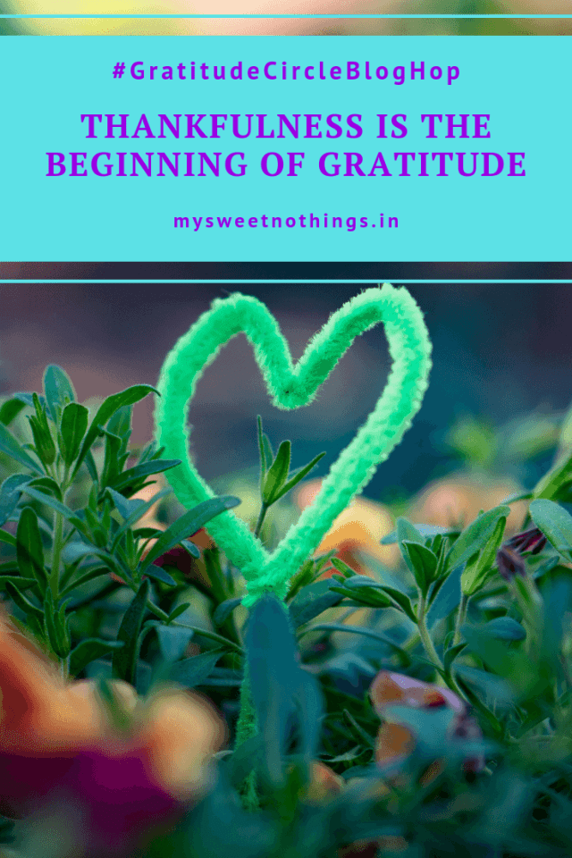 Thankfulness Is The Beginning Of Gratitude #MySweetNothings #vasanthapins #gratitude #thankfulness #grateful #mindfulness