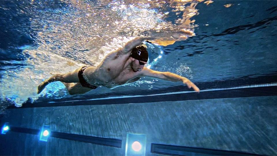 James Guy swimming