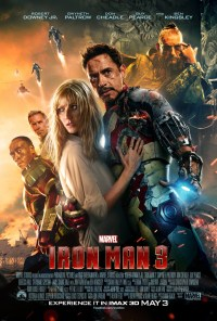 "I would like this one more if Pepper didn't look so ""Oh! Save me! I'm in distress!"" And also...dare I say it...RDJ's hair doesn't look as epic as it usually does. *hides* Plus, the way the Mandarin pic is edited into the poster rubs me the wrong way, for some reason. But...more suits! YEAH!"