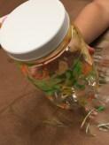 A finished glow jar