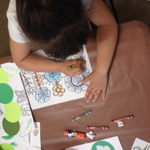 Coloring in a butterfly garden