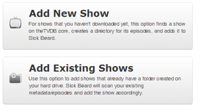 sickbeard-add-new-show