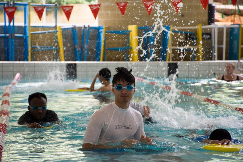 Picture of MY Swim to Sport participants in pool