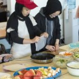 Picture of Youth clients cooking healthy snacks