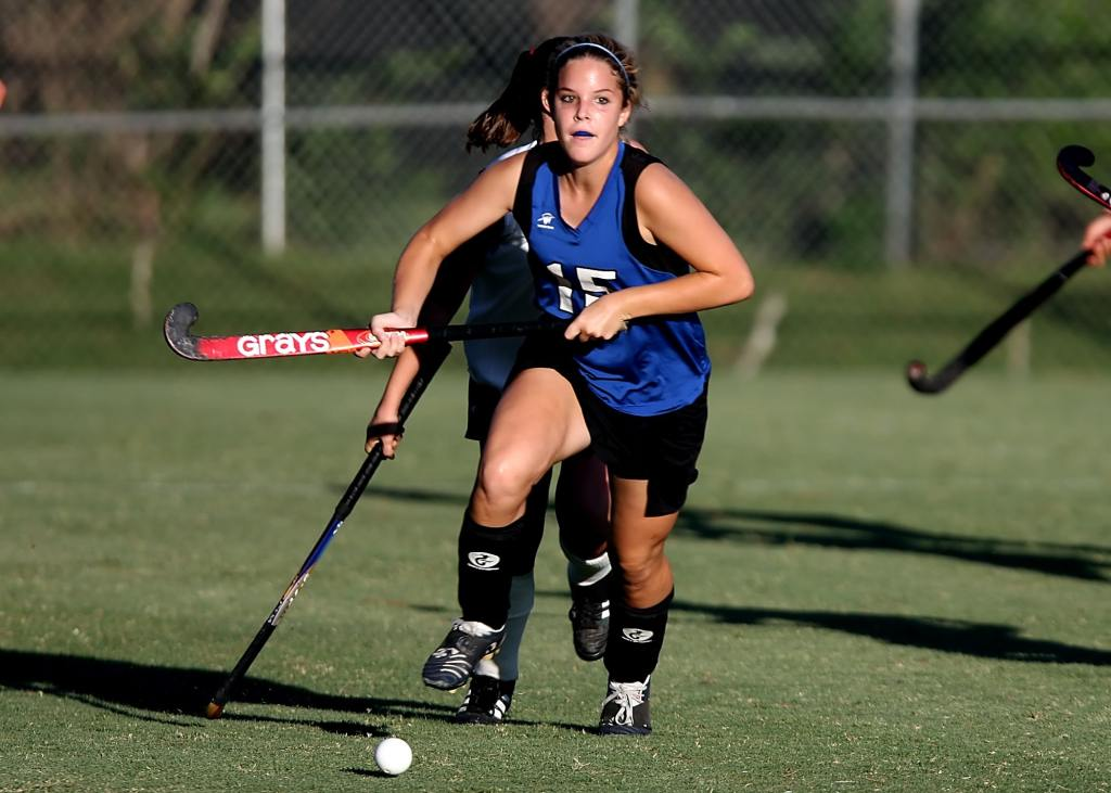 Stock photo of female hockey player