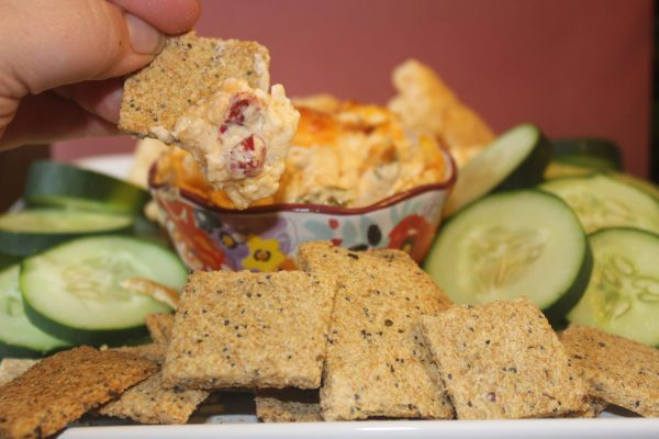 Garlic Poppy Seed Crackers