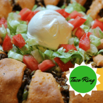 Low Carb, Gluten Free, GrainFree Taco Roll from My Table of Three. Trim Healthy Mama Friendly
