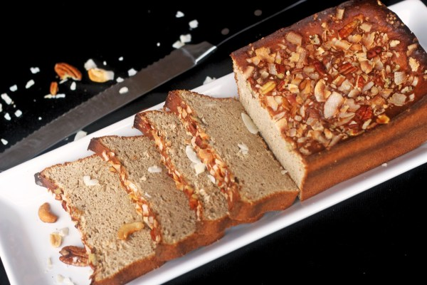 This Low Carb Breakfast bread is sugar and gluten free and comes in at 3 net carbs per slice. It is great with eggs or as French Toast.