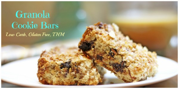 These low carb and gluten free cookie bars are Delicious and work well with THM.