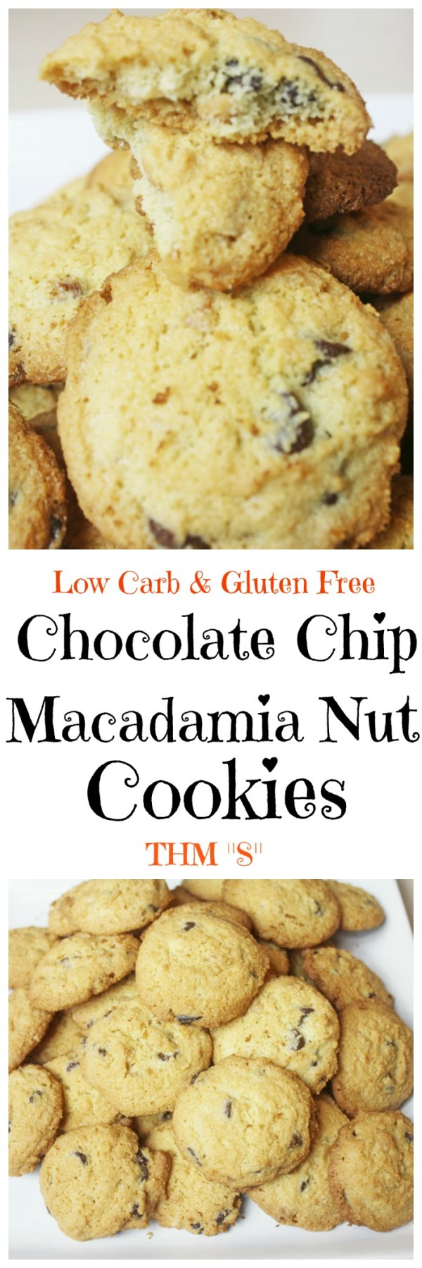 Chocolate Chip Macadamia Nut Cookies || Low Carb Cookes, Gluten Free, Trim Healthy Mama Cookies, Sugar Free