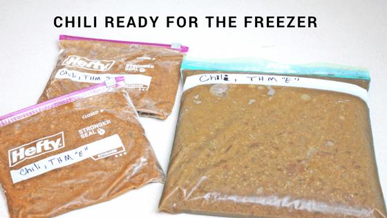 Easy Freezer Chili Recipe, Low Fat and Gluten Free