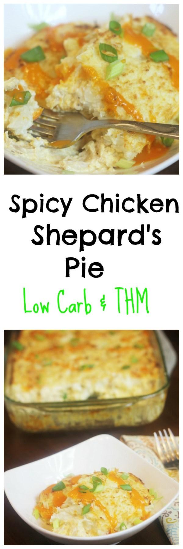 Spicy Chicken Shepard's Pie || Low Carb, THM Casserole, Buffalo Chicken