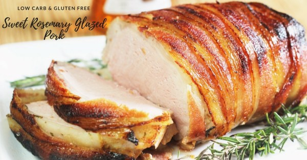 Sweet Rosemary Glazed Pork || Sponsored Recipe, Low Carb, Gluten Free,
