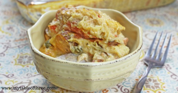 """Creamy Sausage and Pepper Casserole 