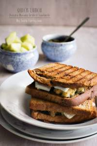 Bombay Grilled Sandwich | Indian Street Style Veg Sandwich