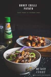 Honey Chilli Potato, Spicy Chilli Paneer and Chinjabi Food Vs Schezwan  or Sichuan Cuisine