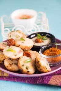 Kuzhi Paniyaram with Thencha and Temeperd Yogurt Dip