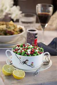 Warm Peas and Feta Salad