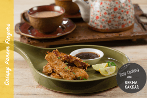 Crispy Paneer Fingers with Pineapple and Tamarind Chutney