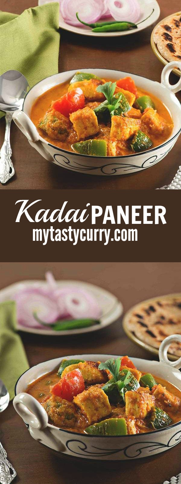 """Punjabi Kadai paneer recipe, a quick and easy recipe with step by step youtube video. This is very aromatic and delicious Kadai paneer gravy also known as kadhai paneer recipe.Indians love Paneer, most of us know this already. If you are a chef or a cooking expert you know how many Times we are asked """"Can I substitute this with paneer"""" however frustrating we may find this but this highlights the fact that Paneer is the most popular substitute for the meat for vegetarians. This easy Indian paneer gravy recipes tastes best with Naan, Roti or Paratha. You can serve it along with jeera rice (Cumin rice) too."""