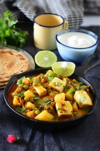 Aloo Matar Paneer Curry with Dal Ka Paratha | Everyday Indian Curries