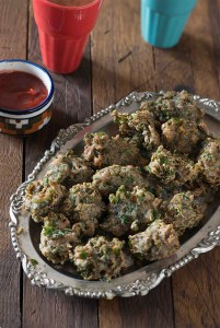 Air Fryer Ragi Methi Pakoda | Finger millet and Fenugreek Pakoda | #MTCchaiNashta