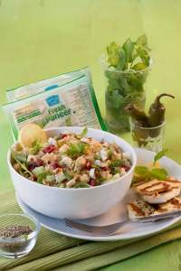 Grilled Paneer Quinoa and Cranberry Salad   A Healthy Recipe of Happiness #summerofhappiness