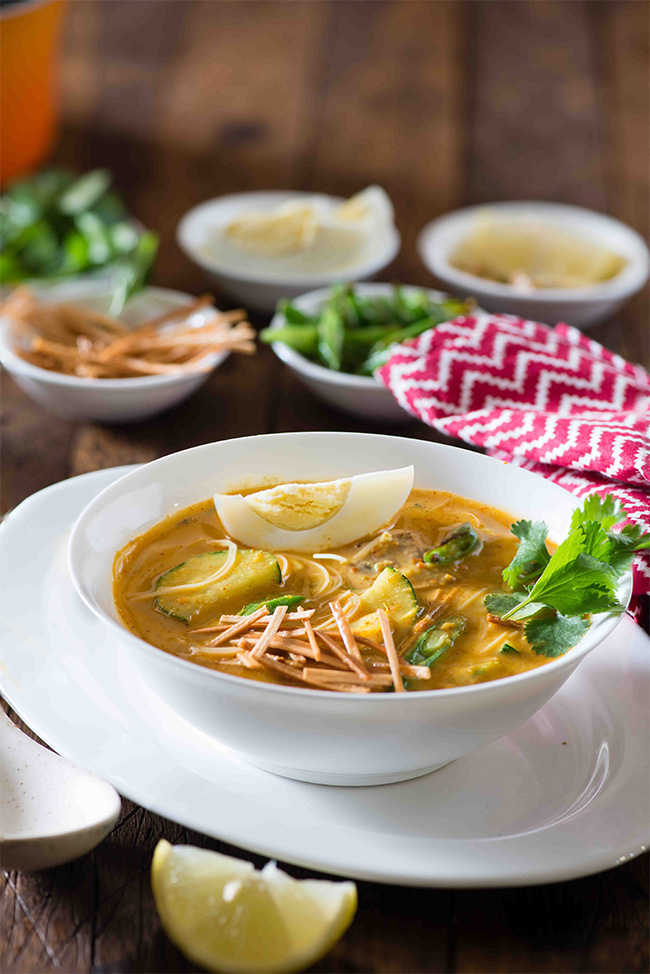 Burmese Khow Suey Soup
