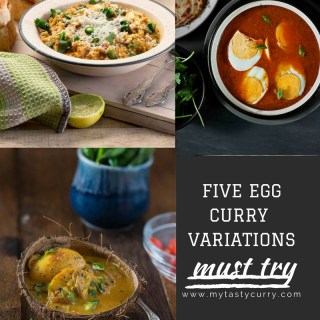 Here's collection of 5 Egg curry recipes from Indian cuisine that are easy, tasty and each of them has a distinct flavor profile of the cuisine it belongs to.