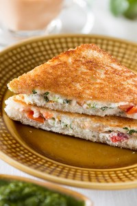 Curd Sandwich Recipe – Indian Sandwich Recipe Yogurt and Cheese